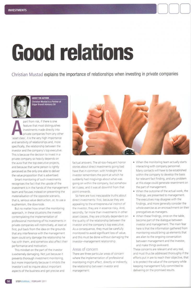 Good Relations – STEP, février 2011