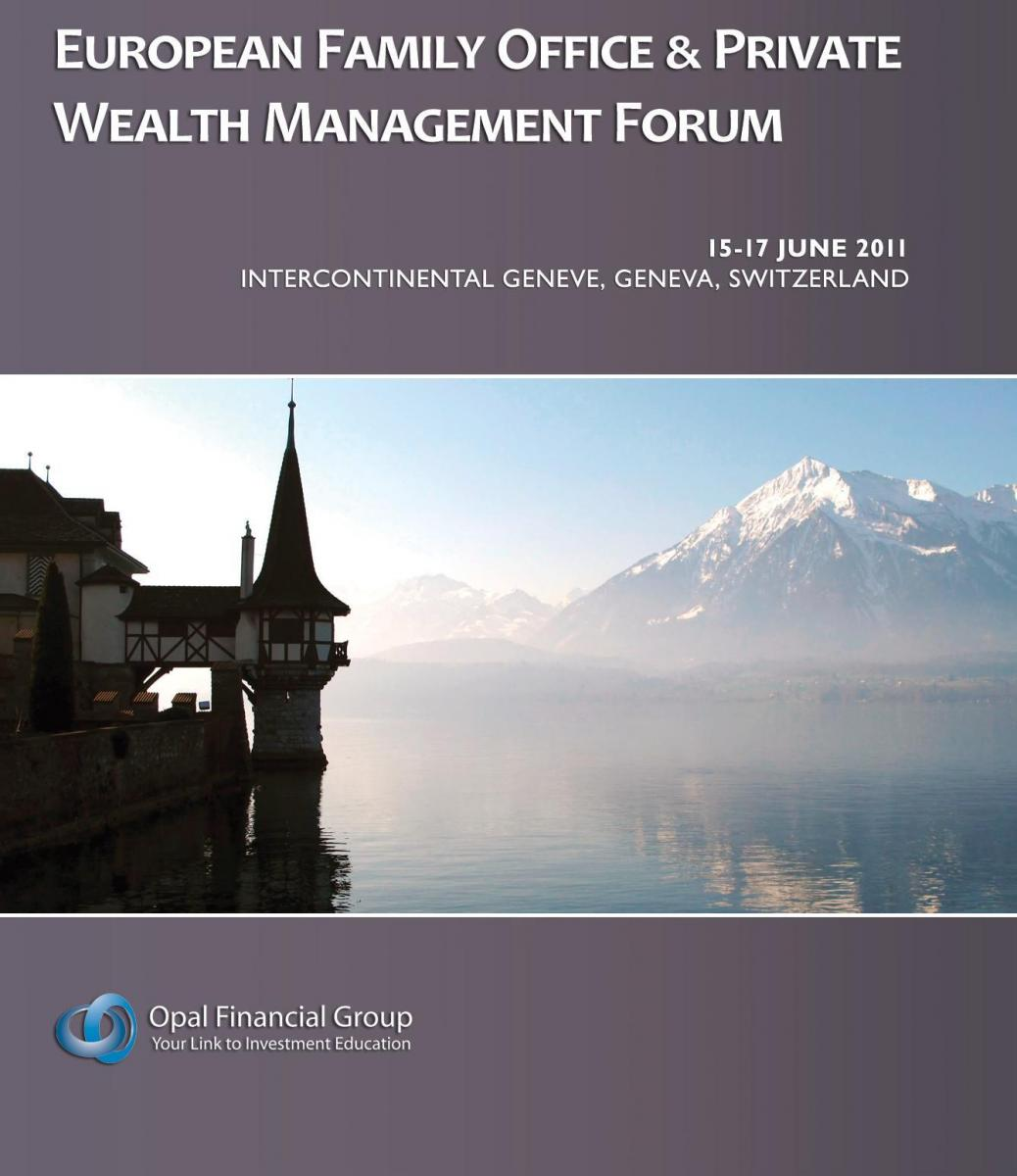 European Family Office and Private Wealth Management Forum