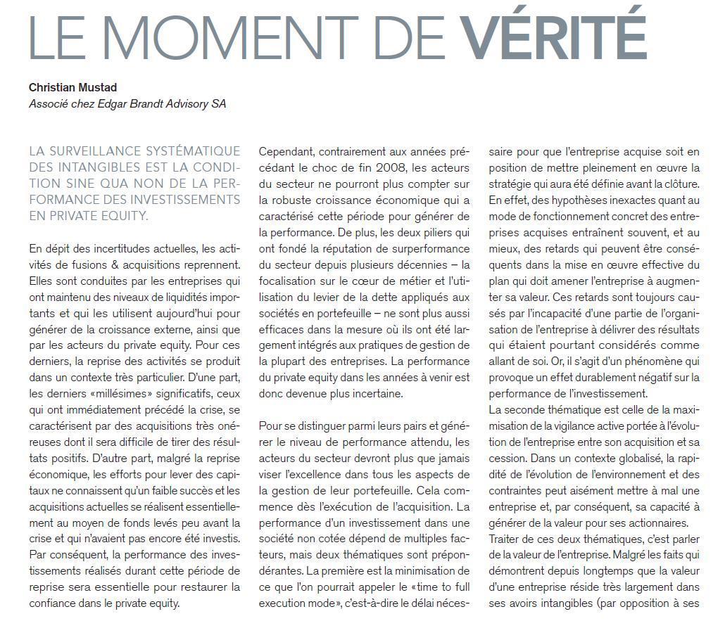 """""""Le Moment de Vérité"""" – Market.ch"""